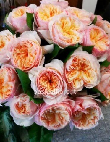 Mazzo Di Fiori Da 20.Bouquet Di Rose Inglesi Da Ordinare 3 4 Gg Prima Fiorista A